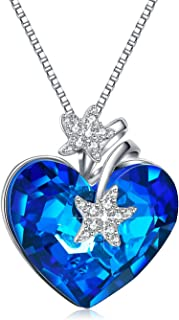 Heart Pendant Necklaces for Women Made with Swarovski Crystals