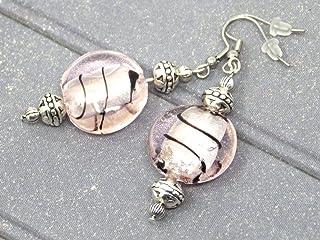 Orecchini Thurcolas dalla gamma Venezia in perline in vetro rosa Murano