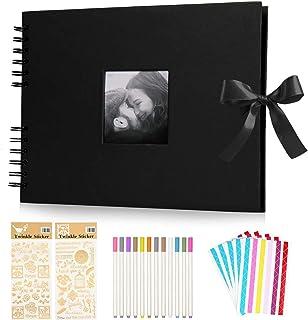 KEAFOLS Album Photo Scrapbooking DIY Album 80 Pages 40 Sheets Bande de Dentelle décorative pour Un Livre d'or Mariage Anni...