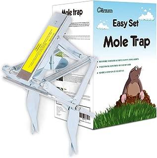 Garsum Plunger Mole Trap Gopher Trap Reusable Quick and Clean Kill
