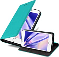 Cadorabo Book Case Works with Apple iPhone 6 / iPhone 6S in Petrol Turquoise – with Magnetic Closure, Stand Function and Card Slot – Wallet Etui Cover Pouch PU Leather Flip