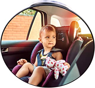 Baby Car Mirror Suction Cup, Forward Facing Baby Mirror Rear View for Infant Children, Baby Mirror Car Seat Back Seat Safe...