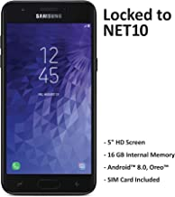 Net10 Carrier-Locked Samsung Galaxy J3 Orbit 4G LTE Prepaid Smartphone – Black..