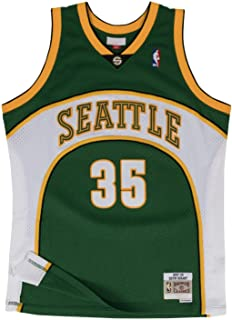 Men's Seattle Supersonics #35 Kevin Durant Throwback Basketball Jersey - Green