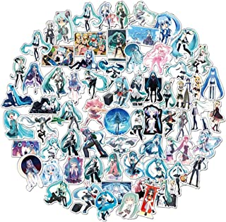 ZIYAN 100Pcs Hatsune Miku Laptop Stickers Anime Waterproof Stickers for Skateboard, Luggage,Helmet,Guitar