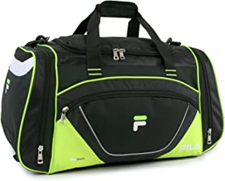 "Fila Acer 25"" Sport Duffel Bag, Black/Neon Green"