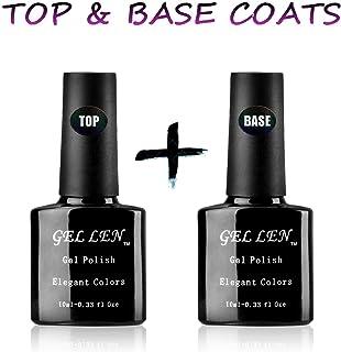 Gellen UV/LED Soak Off Gel Nail Polish Top Coat and Base Coat Set - 10ml Each