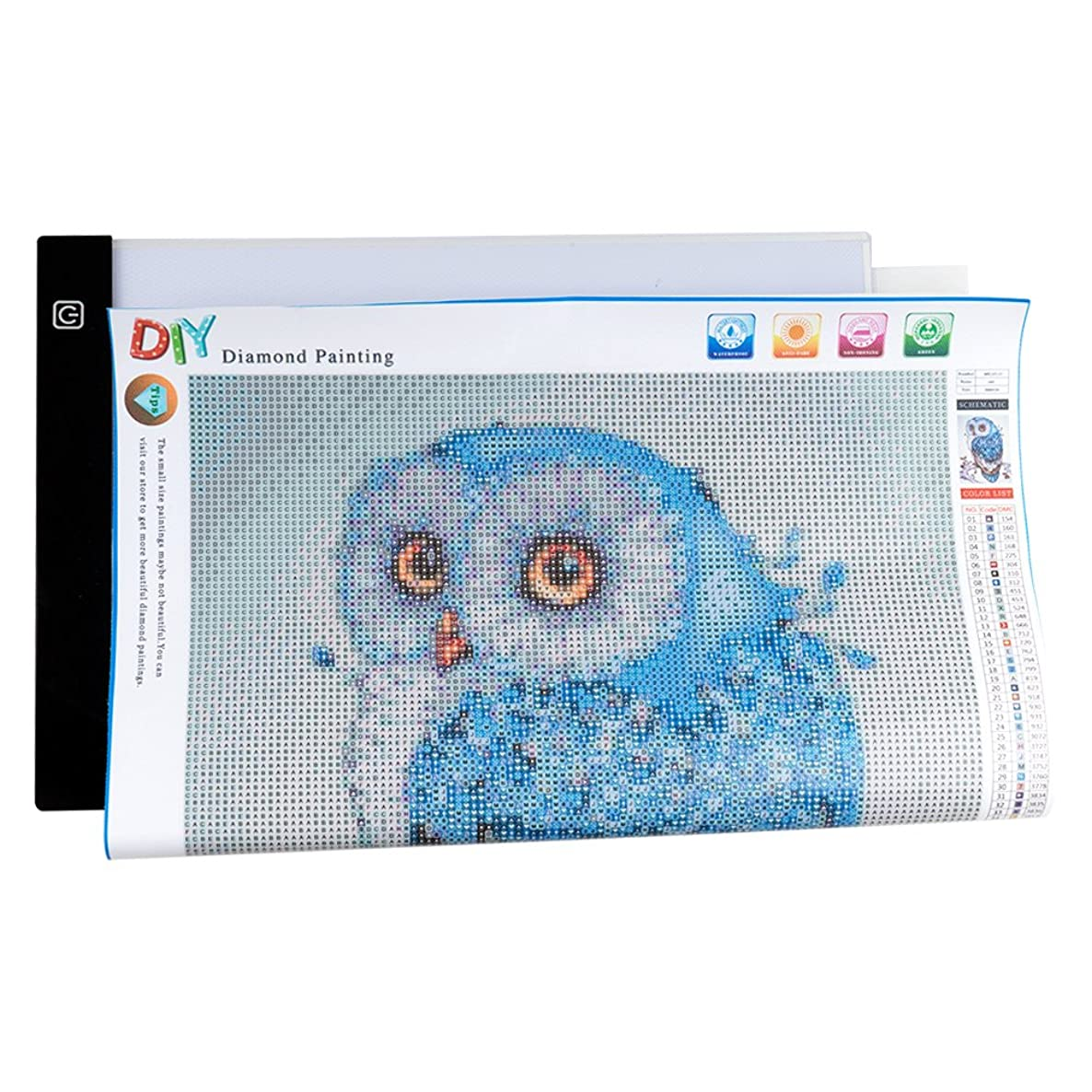 COCODE Light Tracer Box for DIY 5D Diamond Painting by Number Kit, Stepless Dimming A4 LED Tracing Pad Tracer Board with USB Powered for Applique Quilting Animation Cartoon, Tattoo Craft Projects
