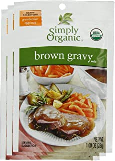 Simply Organic Brown Gravy Mix 1 Ounce (Pack of 3)