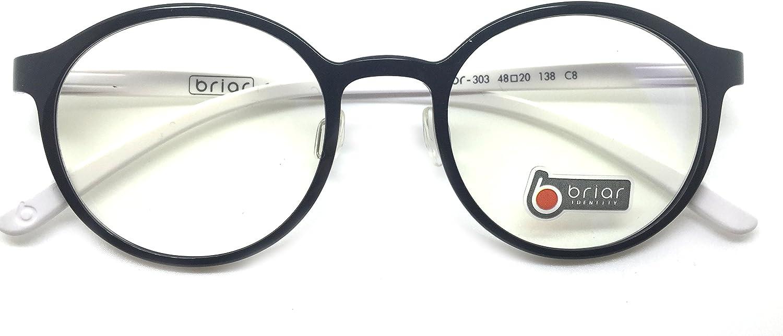 Briar Prescription Eye Glasses Frame Ultem Super Light, Flexible Br 303 C8