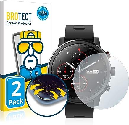 BROTECT Protection Écran Intégrale Compatible avec Huami Amazfit Stratos [2 Pièces] - Couverture Complète 3D Incurvé