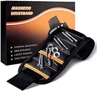 [Upgrade] BYETOO Magnetic Wristband,Tool Belt with 15 Strong Magnets,for Holding Screws,ails,Drill,Bits,Best Unique Men,Wo...