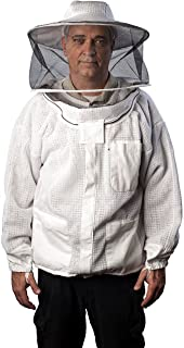 FOREST BEEKEEPING SUPPLY - Premium Ventilated Beekeeping Jacket with Round Hood   Suitable for Beginner and Commercial Bee...