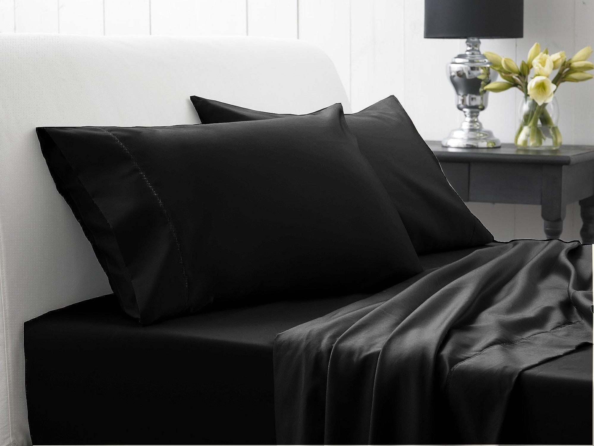 Dreamz lit 250 fils Living Lit poche (Profondeur    21 cm Noir Euro Plus S simple solide 100%  coton égypcravaten