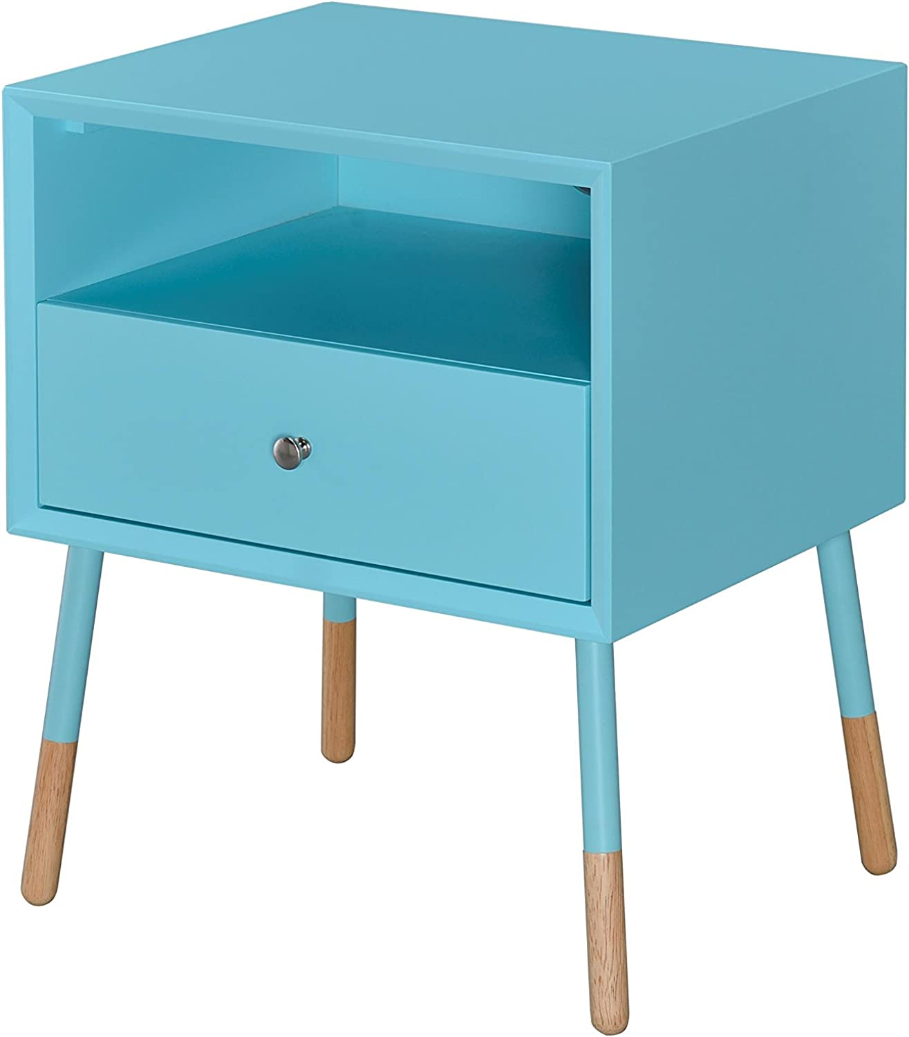 Acme Sonria II Light bluee and Natural End Table
