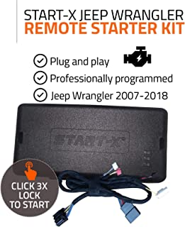 Start-X Remote Starter Kit for Jeep Wrangler Key Start 2007-2018 || Plug & Play || 3X Lock to Remote Start || 10 Minute Install