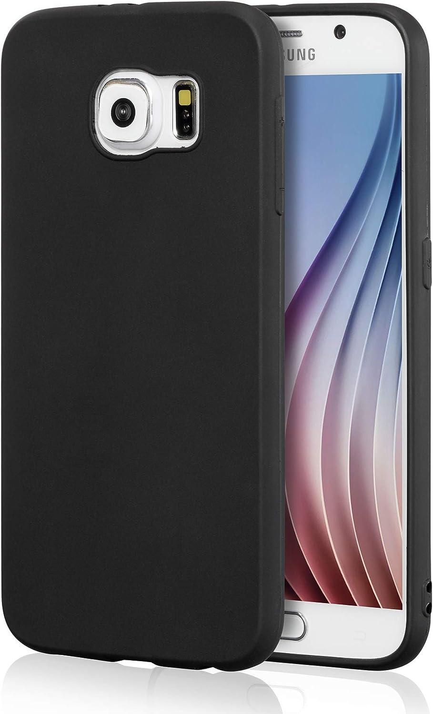 Galaxy S6 Black Case, technext020 Galaxy S6 Case Silicone Protective Back Cover Slim Fit Samsung Galaxy S6 Bumper