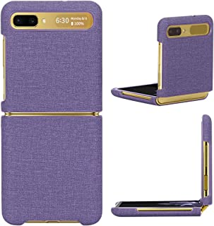 FYY [Anti-Germs Antibacterial Case] for Samsung Galaxy Z Flip, Canvas Pattern Cover Ultra-Thin Anti-Drop Protective Case f...
