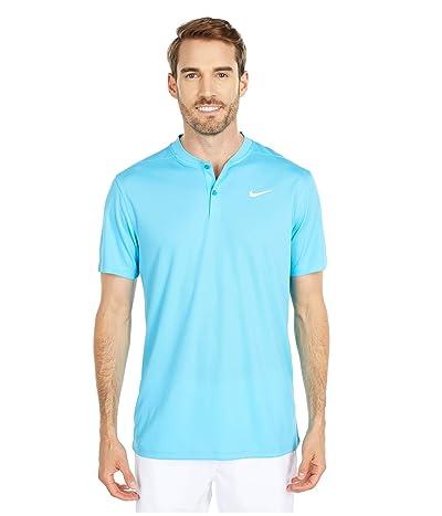 Nike Golf Dri-FITtm Victory Blade Polo (Blue Fury/White) Men