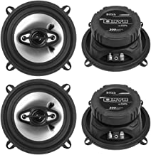 "BOSS NX524 5.25"" 600W 4-Way Car Audio Coaxial Speakers Stereo Black 4 Ohm photo"