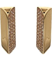 Kate Spade New York - Raise The Bar Pave Small Huggies Earrings