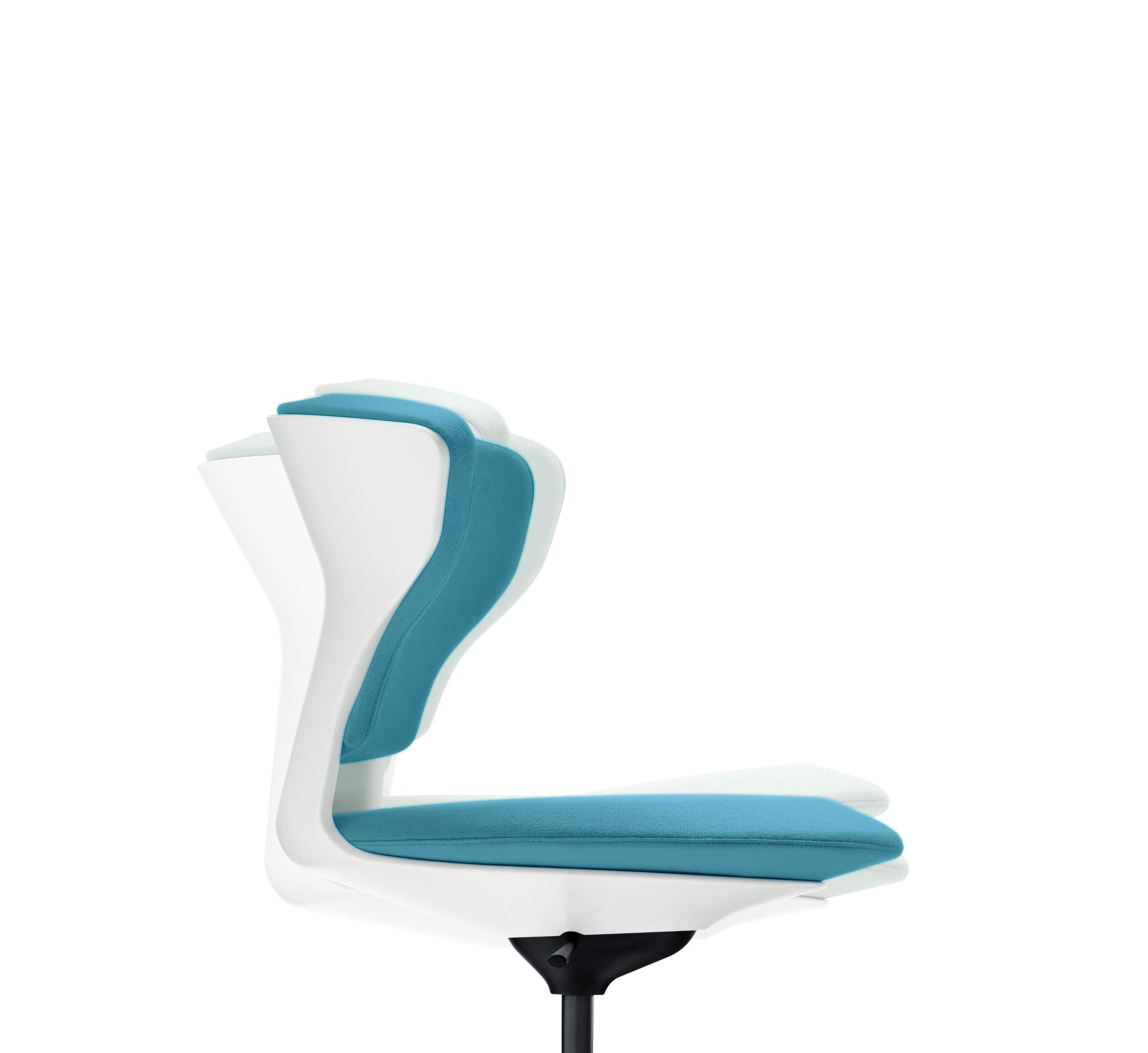 Sedus Turn Around Chaise tournante, Plastique, BlancBleu, Drehstuhl
