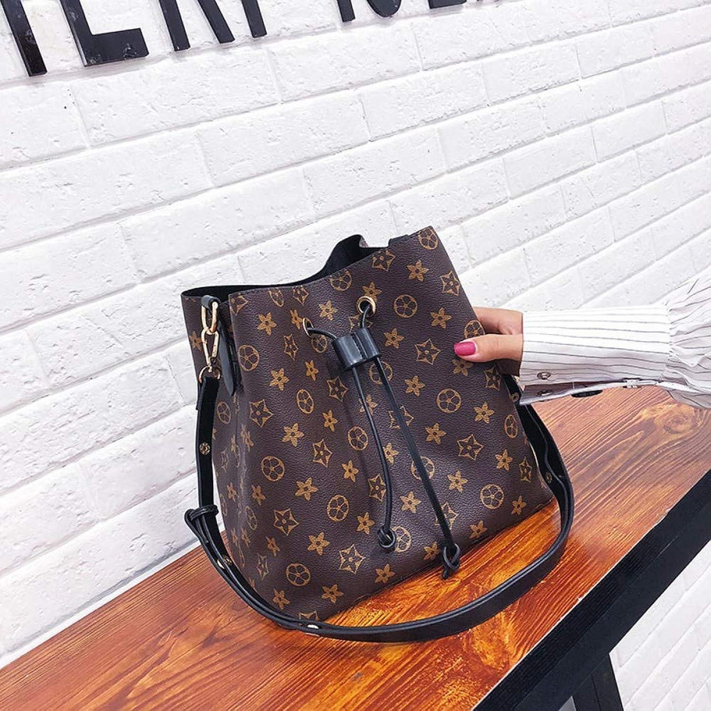 Shoulder Bag,Women Fashion Vintage Printing Drawstring Handbag,Female Messenger Bags Ladies Leisure Crossbody Bucket Bag