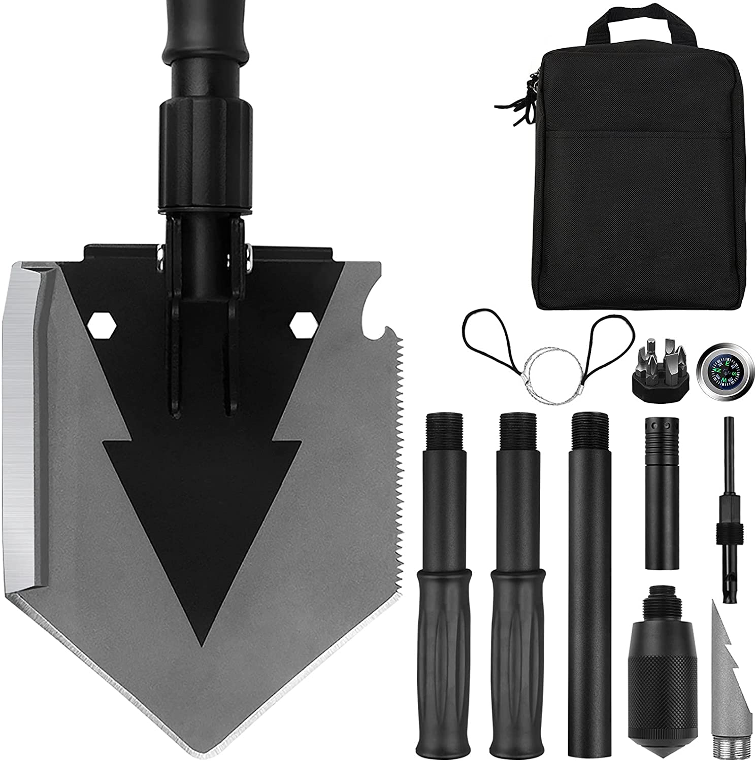 OFFicial shop online shopping Survival Shovel Folding 38 Tactical inch Gear Military