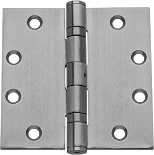 Dynasty Hardware Commercial Grade Ball Bearing Door Hinge 4-1/2 x 4-1/2 Full Mortise Stainless Steel, Non-Removable Pin - 3- PACK