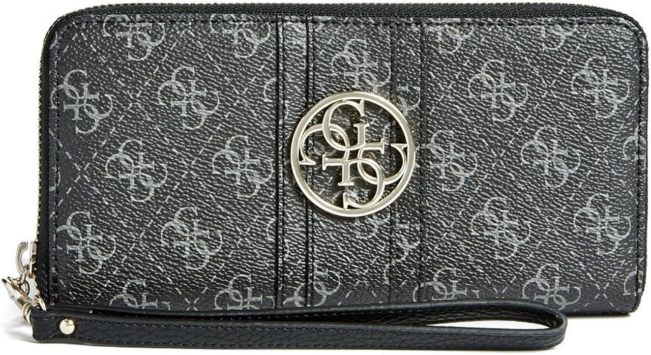 GUESS Lena Quattro G Zip-Around Wristlet Wallet Clutch Bag