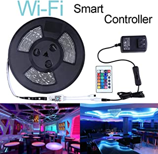 Miheal Led Light Strip,WiFi Wireless Smart Phone Controlled Strip Light Kit 32.8ft 300leds 5050 Waterproof IP65 LED Lights,Compatible with Android and iOS System,Alexa