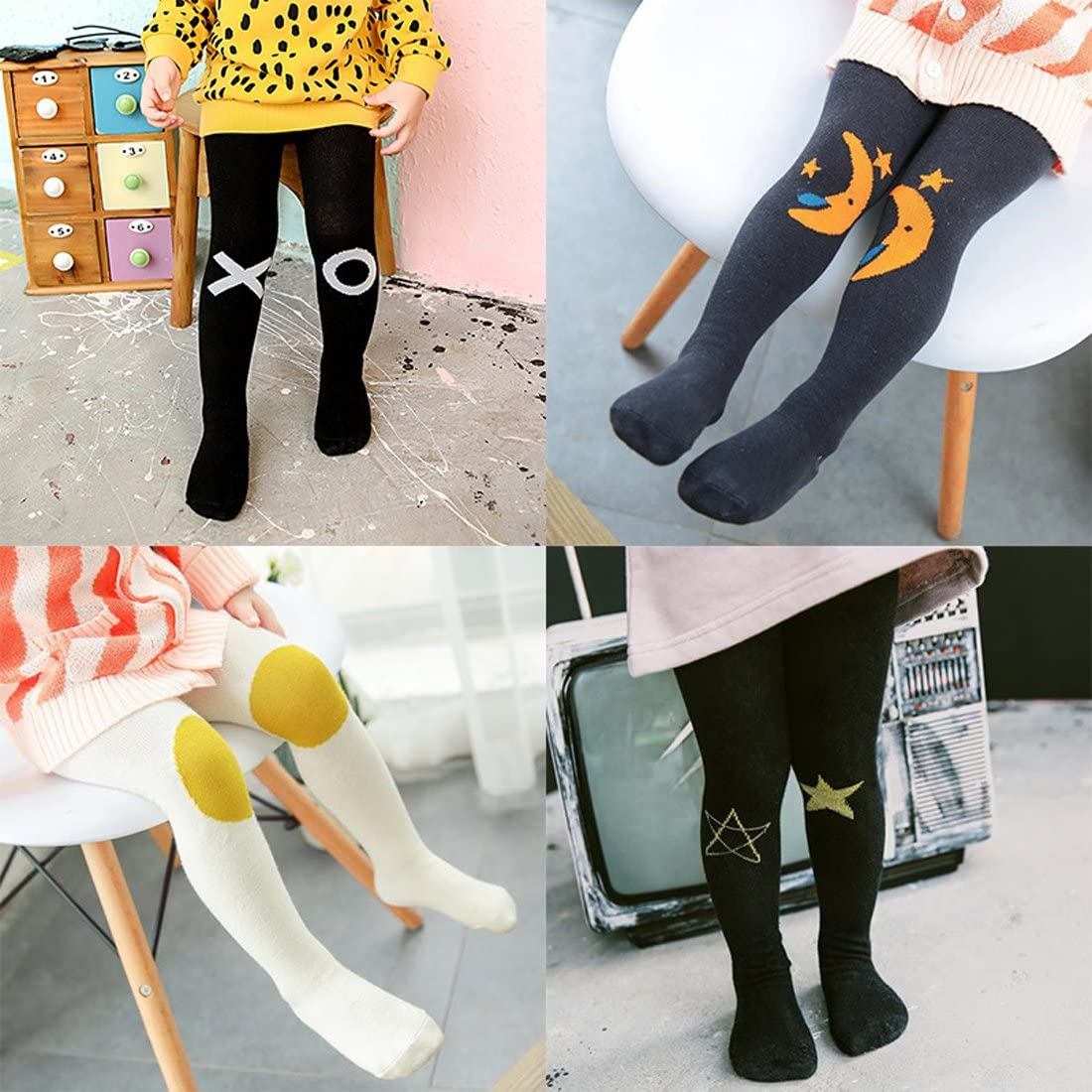 Toddler Baby Tights Cotton Pantyhose for 1-3 Years Infant Leggings Feet Cartoon Trousers Cute Animal Socks Stockings