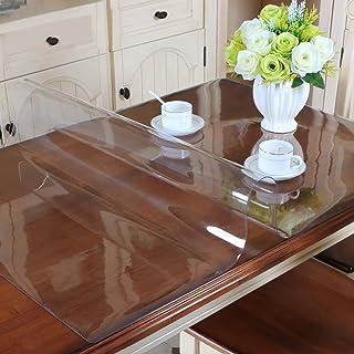 MAGILONA Home - Mantel protector de PVC impermeable para mesa, mesa de escritorio, rectangular, tamaño personalizado, Algodón/PVC., Blanco, 23.5x23.5 Inch (60x60cm)
