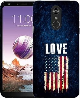Inkmodo - Designer Hard Case for LG Stylo 5 - Love USA Flag Printed Slim Profile Cute Plastic Snap on Back Cover