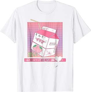 90s Japanese Otaku Stylish Aesthetic Milk T-Shirt