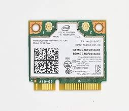 Network Card Intel 7260HMW,Dual Band Wireless-AC 7260 Network Adapter PCI Express Half Mini Card 802.11 b/a/g/n/ac (TA:H 867Mbps)
