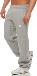 Nike Stitch Cuffed Club Sweat Pants Mens Sport Trousers Training Light Gray