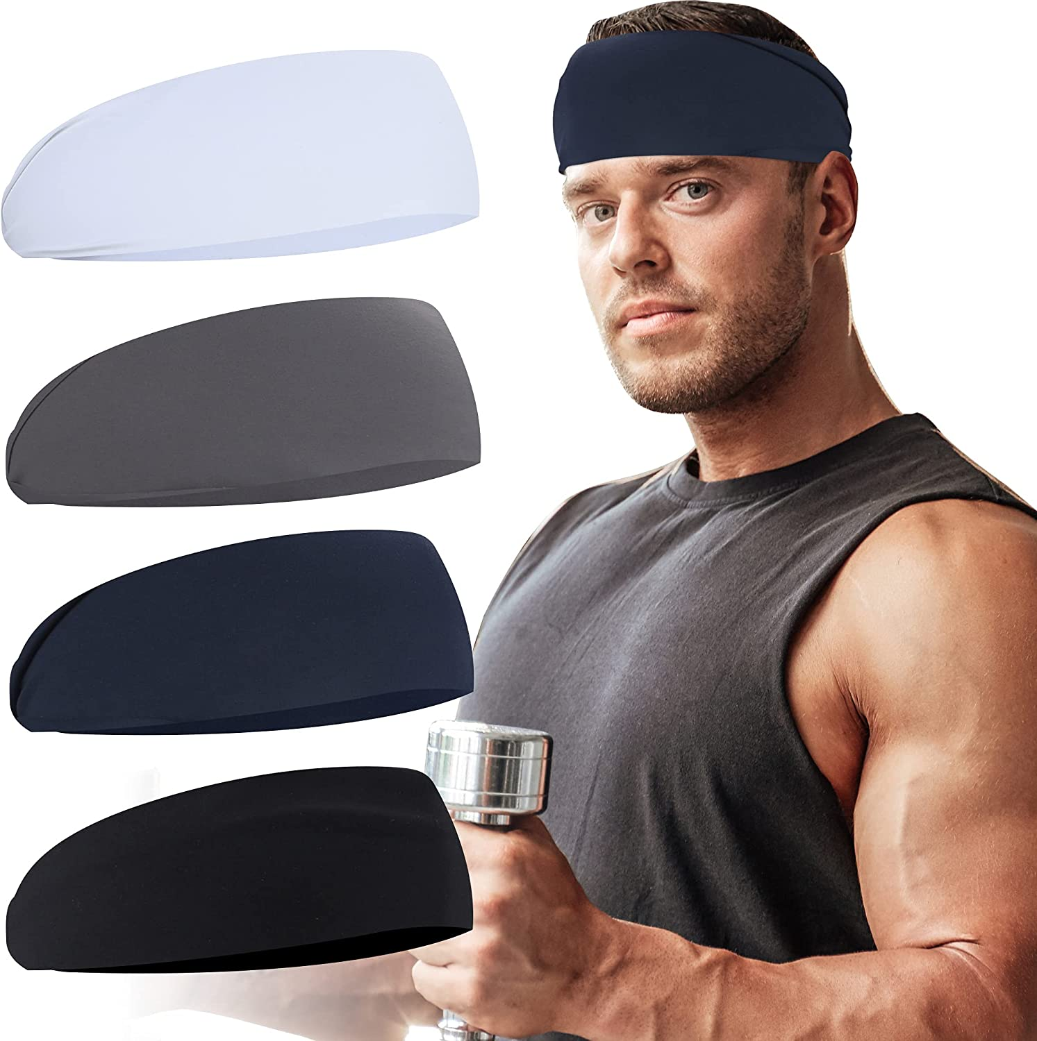 Hoogalife New products, world's highest quality popular! Mens Headbands Sports Stretchy for Headband online shopping Runn Sweat