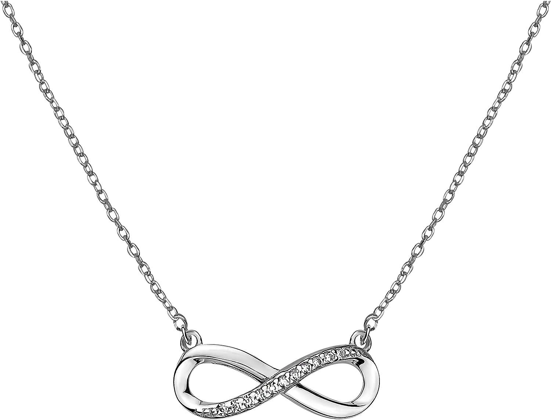 SOFIA MILANI - Collar para Mujeres en Plata de Ley 925 - con Circonitas - Colgante de Infinito - 50273