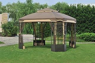 Sunjoy Replacement Canopy Set for 10x12ft Bay Window Gazebo