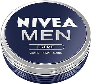 NIVEA MEN Crème Visage - Corps - Mains (1 x 150 ml), crème multi-usages au parfum masculin format boîte alu, soin hydratan...