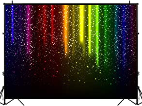 Funnytree 7x5FT Let's Glow Party Photography Backdrop for Music Dance Disco Decor Rainbow Neon Background Photo Booth