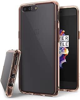 Ringke OnePlus 5 ケース [落下防止 衝撃吸収] [ストラップホール] フュージョン 透明 クリアPC TPUカバー (OnePlus 5 A5000, ローズゴールド)