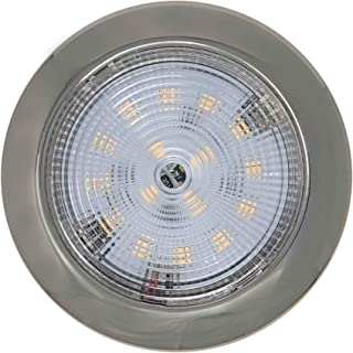 Five Oceans Stainless Steel Slim LED Cool White Interior Dome Light, 3 3/4