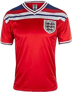 England Official Soccer Gift Mens 1982 World Cup Finals Home & Away Kit Shirt