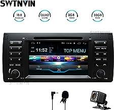SWTNVIN Android 10.0 Coche Audio Cabezal estéreo se Adapta a BMW E39 Reproductor de DVD Radio 7 Pulgadas HD Pantalla táctil navegación GPS con Bluetooth WiFi Volante Control 2GB + 32GB
