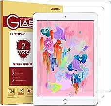 [2 Pack] OMOTON iPad 9.7 6th Generation Screen Protector, Tempered Glass Screen Protector for iPad 5th Generation/iPad Pro 9.7/ iPad Air 2 / iPad Air (9.7 Inch)
