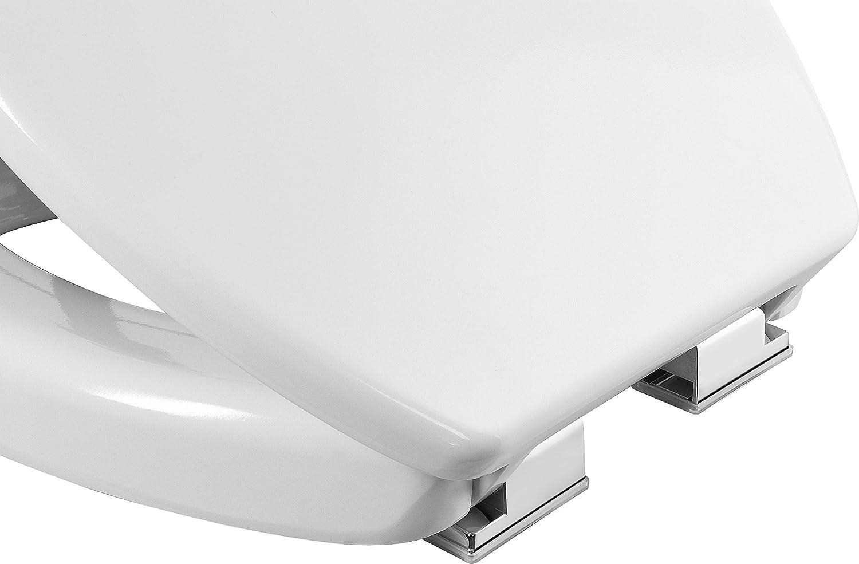 Cornat KSSLSC100 Safeline 2.0 Abattant de WC en Duroplast facile dentretien Forme sur/élev/ée Syst/ème dabaissement automatique Design simple Convient /à toutes les salles de bain//lunette WC Blanc