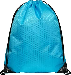 JUNFA Cinch Bags Drawstring Backpack Not See-Through Pull String Bag 1 or 4-Pack Football Pattern