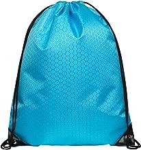 JUNFA Cinch Bags Drawstring Backpack Not See-through Pull String Bag-Football Pattern¡